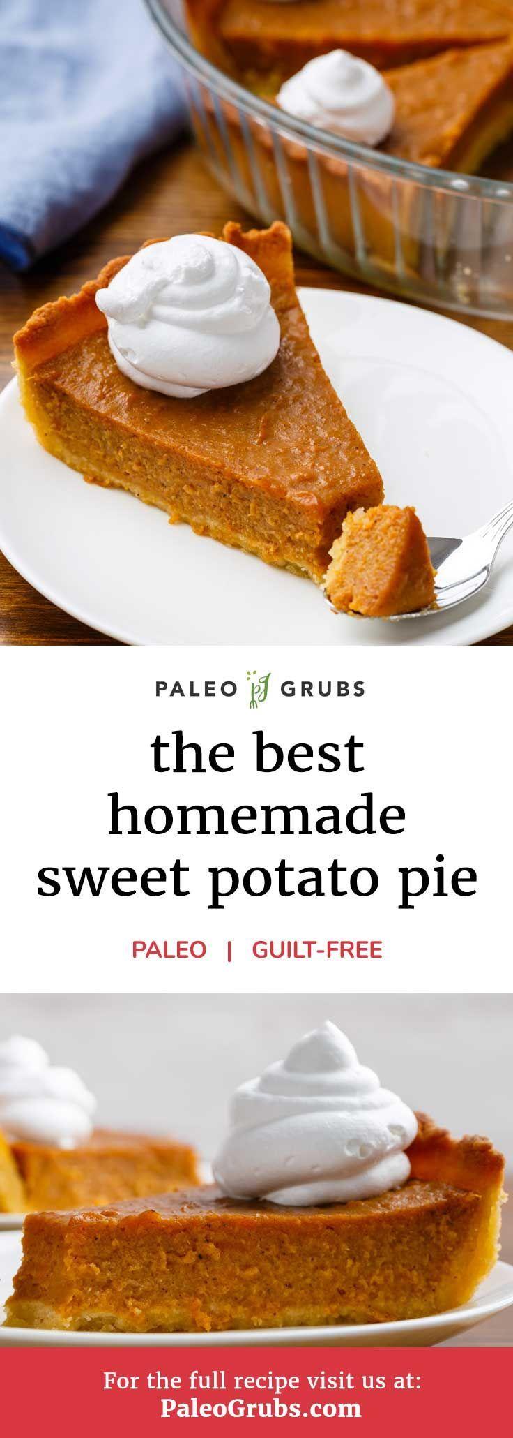 Paleo Sweet Potato Pie with an Almond Flour Crust