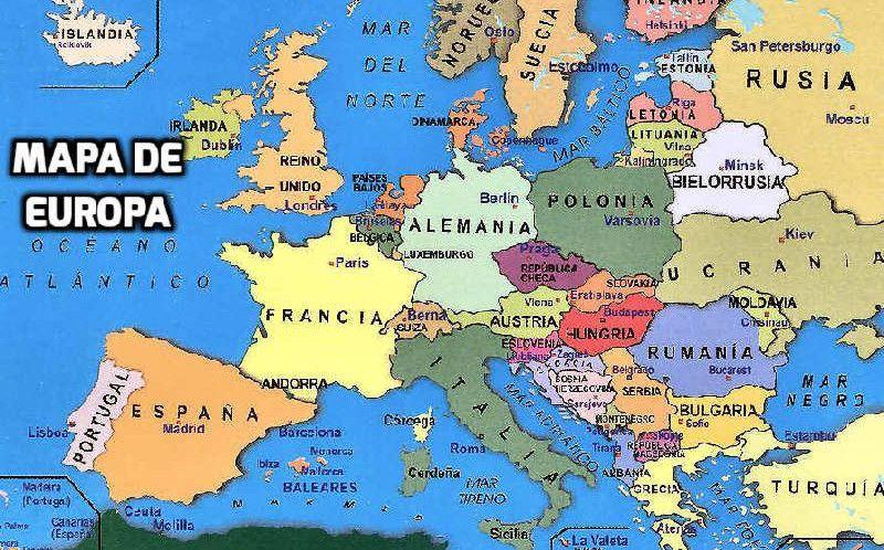 Mapa De Europa Paises Y Capitales En Español.Mapa De Europa En Espanol Con Paises Y Capitales Mapa De