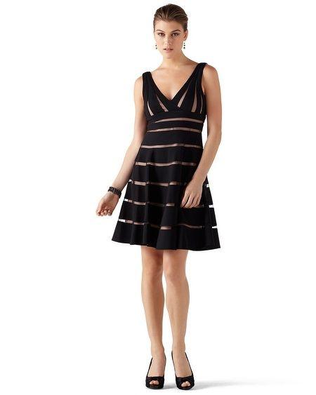 White House Black Market shadow dress - redo with horizontal skirt shadows angling on bias