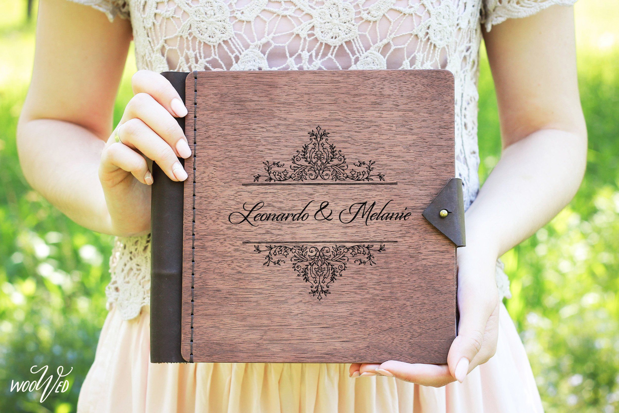 Monogram Wedding Guest Book Personalized Photo Book Custom Etsy Personalized Wedding Guest Book Wooden Wedding Guest Book Wedding Guest Book