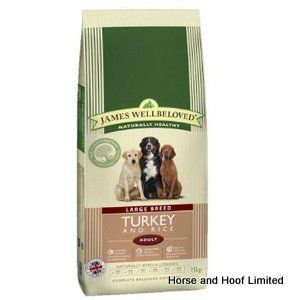 James Wellbeloved Turkey Rice Large Breed Junior Dog Food 4kg