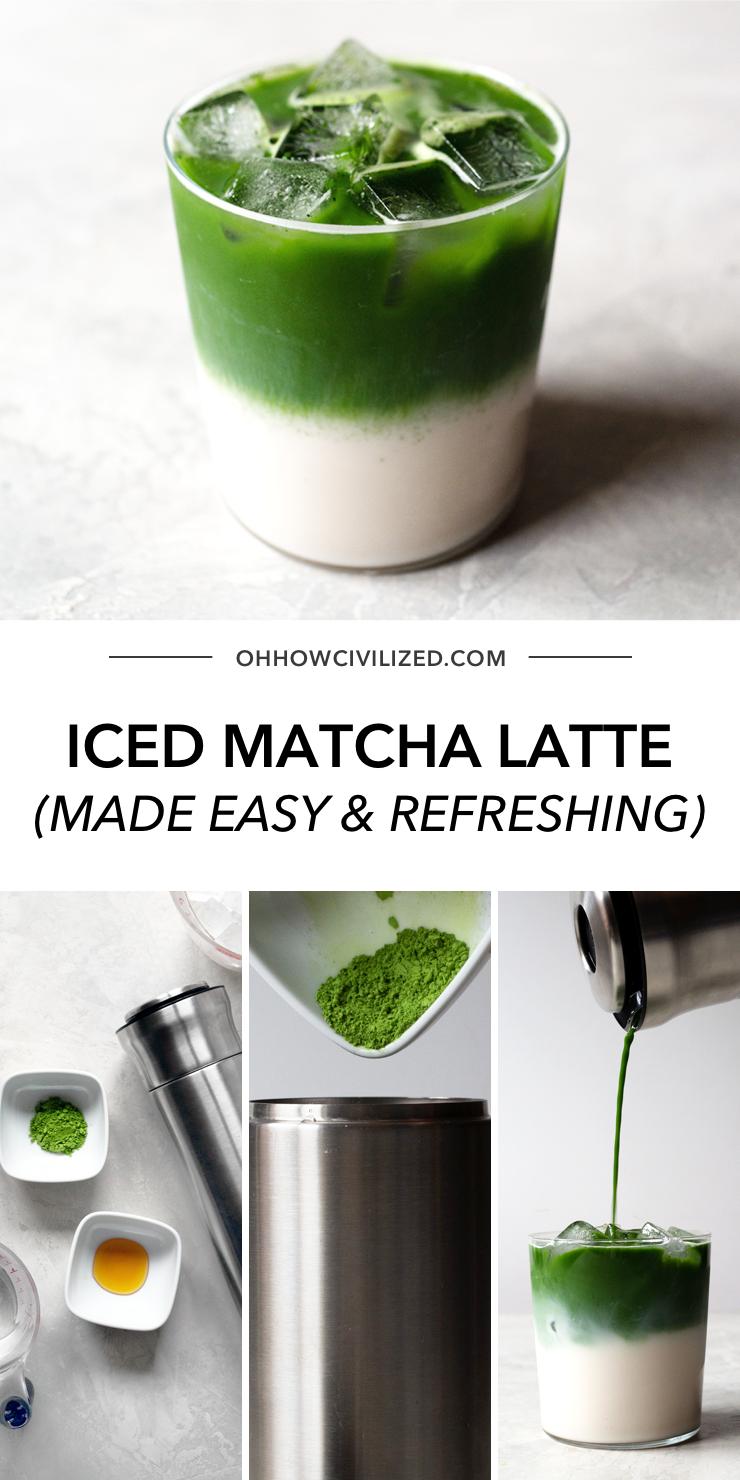 Easy Iced Matcha In 2020 Iced Matcha Green Tea Recipes Iced Tea Recipes