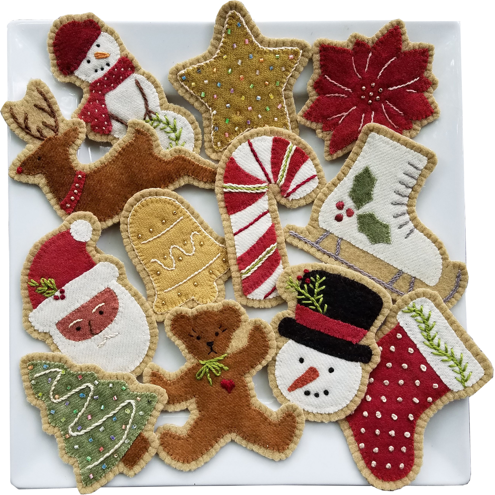 Of Oregon Quilter Fiber Artist Author And Teacher Bonnie Sullivan And Her Pattern Company Felt Christmas Ornaments Felt Christmas Felt Ornaments Patterns
