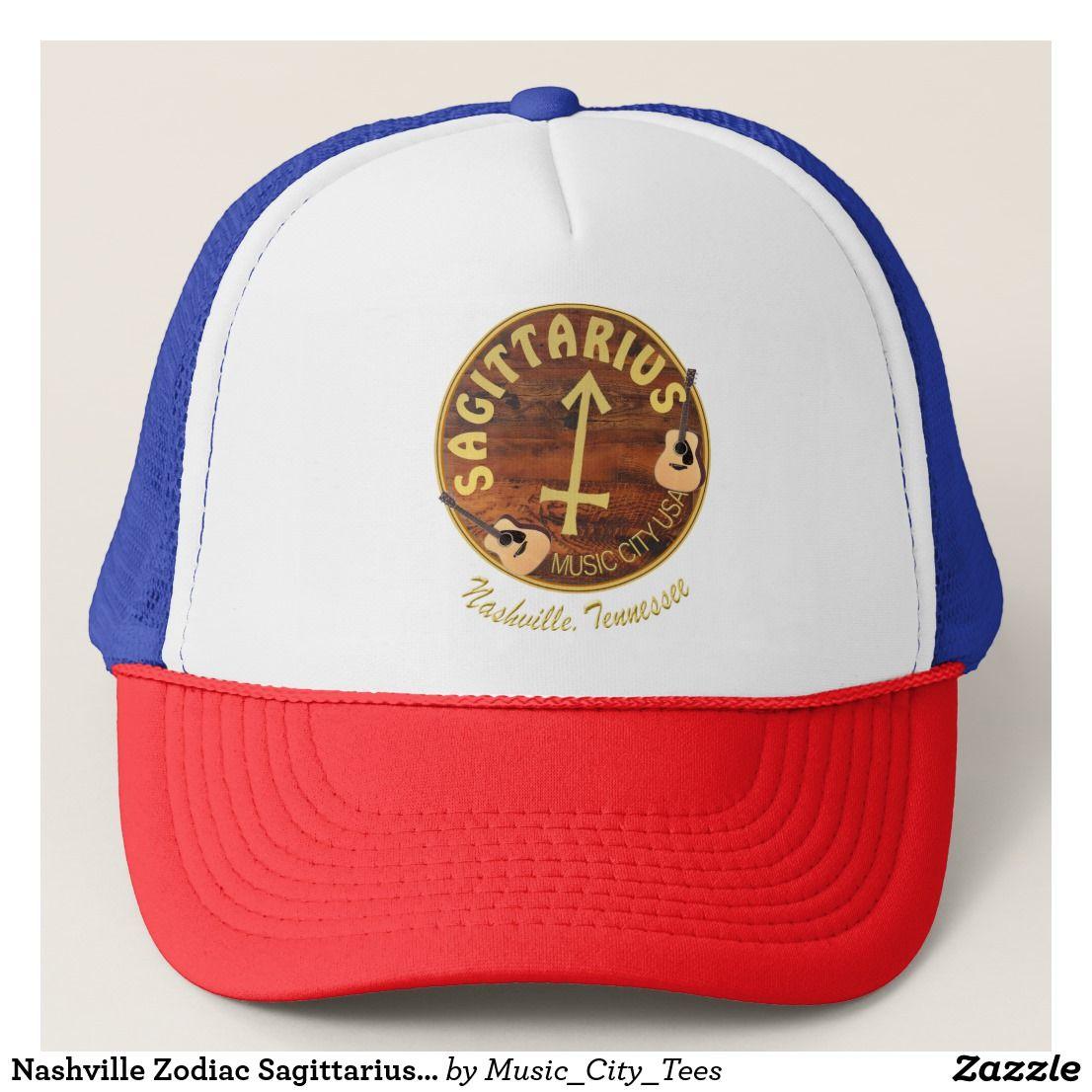 cheap for discount 3ebbb 38138 Nashville Zodiac Sagittarius Trucker Hat A Nashville Sagittarius design for  truckers  hats, baseball caps and other custom Music City USA items to show  off ...