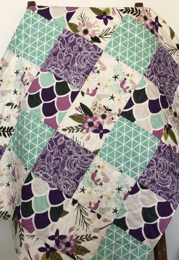 purple and grey deer patchwork nursery items Mint grey minky quilt backing