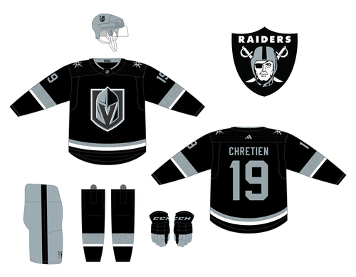 Vegas Golden Knights Las Vegas Raiders Alternate Jersey In 2020 Nhl Jerseys Custom Jerseys Nhl