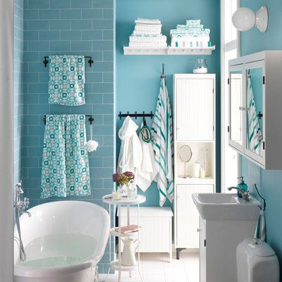 Explore Blue Bathrooms, Small Bathroom Suites, And More!