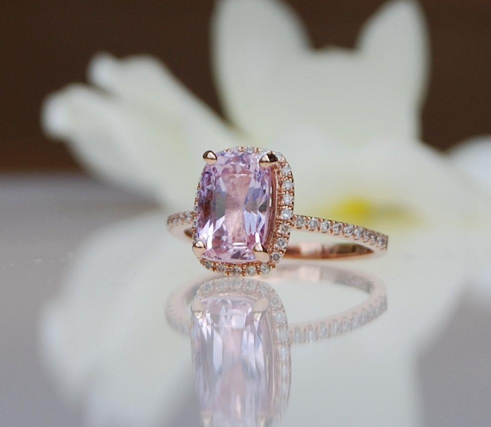 3.28ct cushion lavender peach champagne sapphire by EidelPrecious, $3,550.00