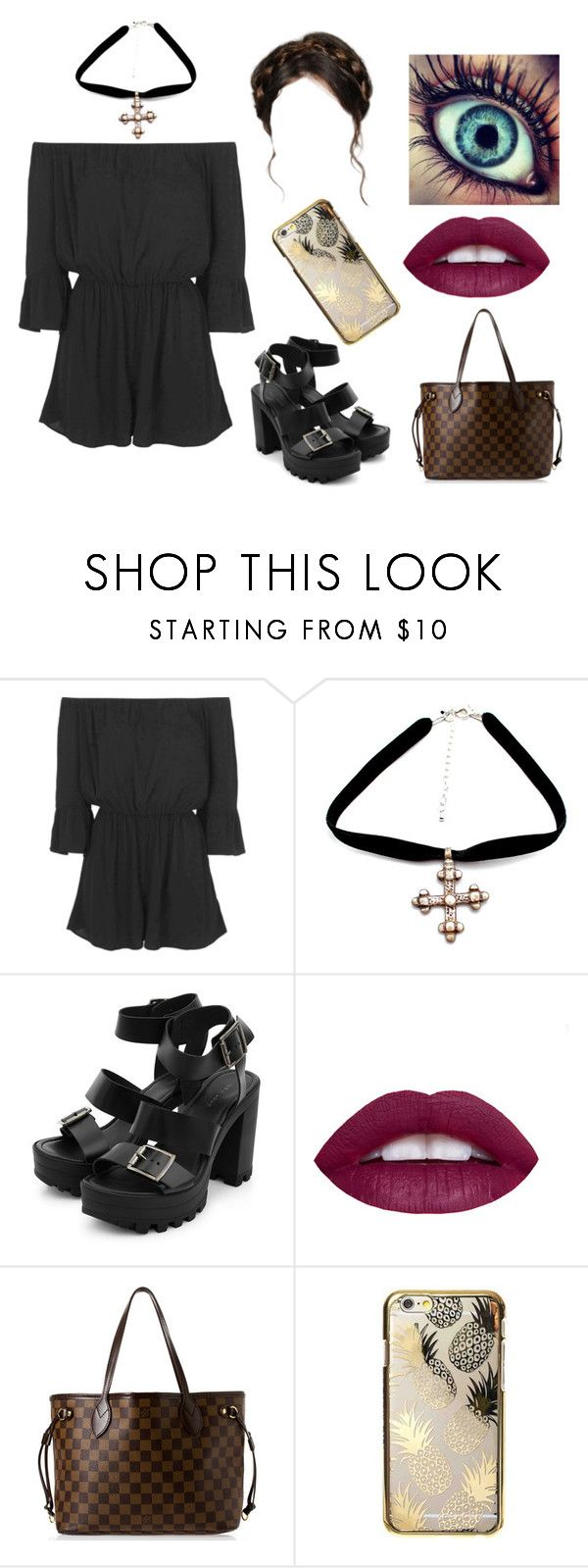 """""""Untitled #912"""" by jonas-bros02 on Polyvore featuring Topshop, Louis Vuitton and Skinnydip"""