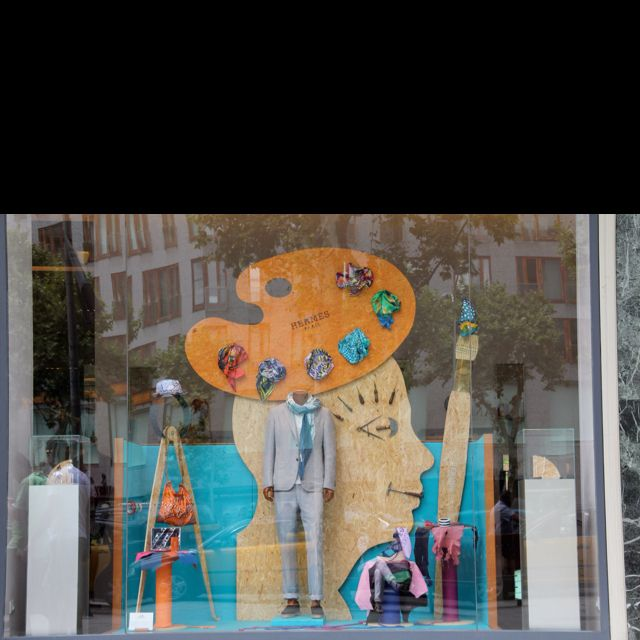 Hermes window Barcelona