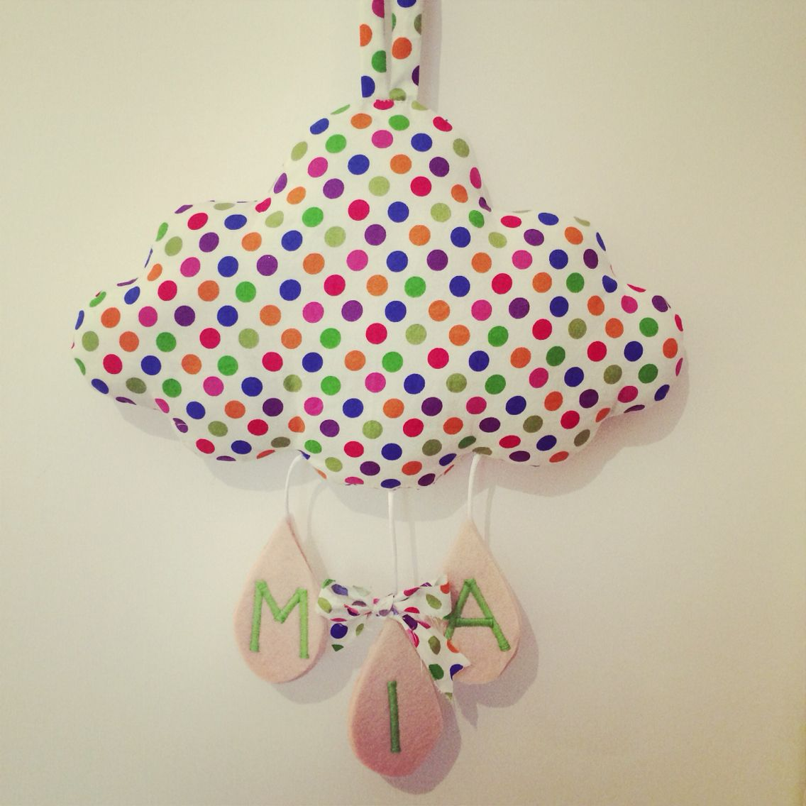 Birth cloud , nursery, baby decor , la testa tra le nuvole handmade , kids decor
