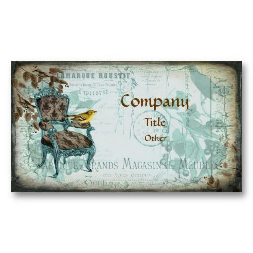 Blue shabby chic business card shabby chic business cards blue shabby chic business card reheart Images