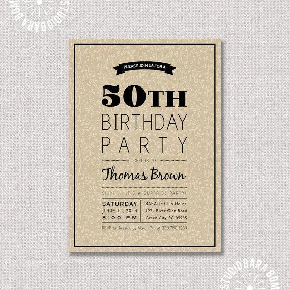 Sorpresa 50 o cumplea os invitaci n de cumplea os de - Cumpleanos sorpresa adultos ...