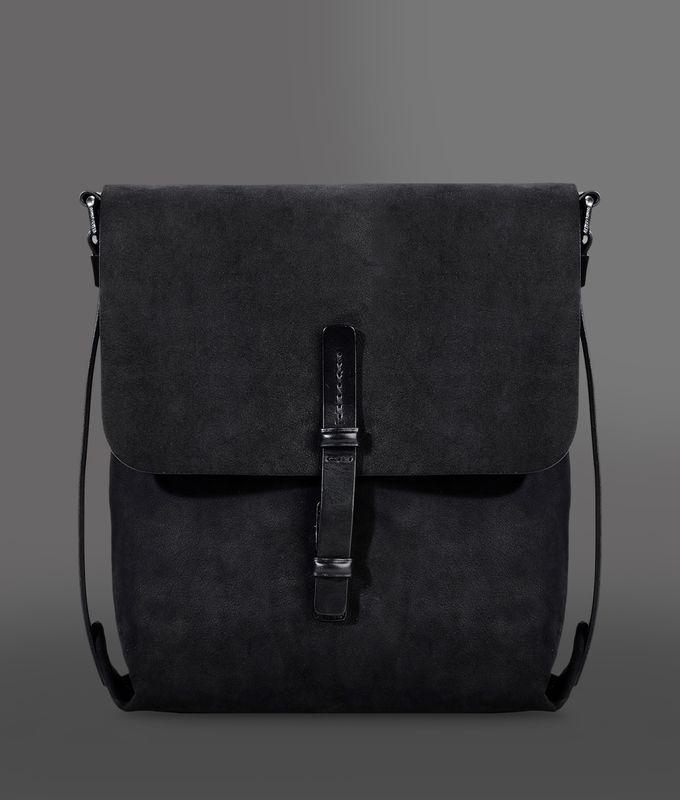 Giorgio Armani Men Messenger Bag - SHOULDER BAG IN NUBUCK EFFECT LEATHER Giorgio Armani Official Online Store