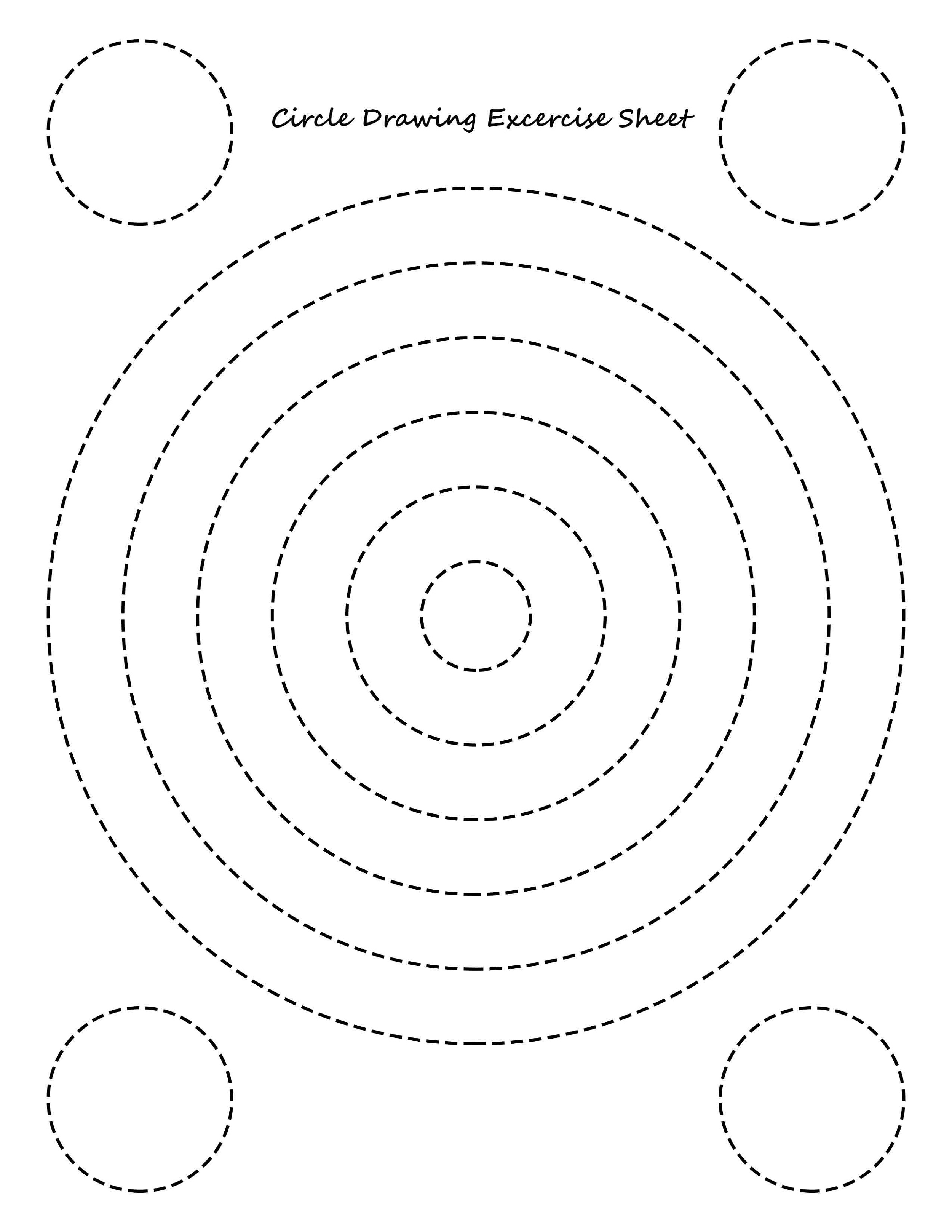 Circle Drawing Exercise Educational Worksheets For