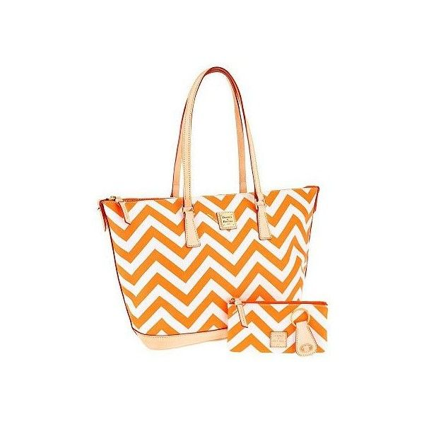"""As Is"" Dooney & Bourke Coated Cotton Chevron Tote (1.625 ARS) ❤ liked on Polyvore featuring bags, handbags, tote bags, chevron purse, dooney bourke handbags, tote purse, lightweight tote and chevron print purse"