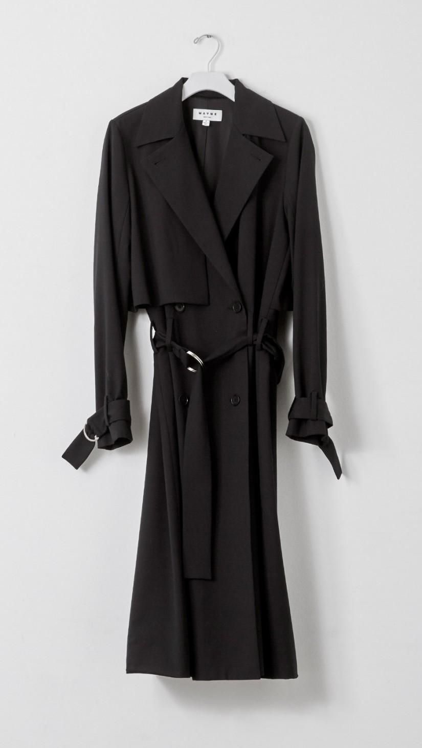 Wayne Wool Coat in Black   The Dreslyn