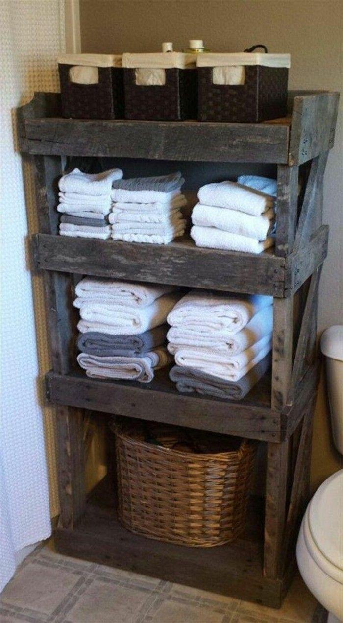 1001 ideas para hacer muebles con palets f ciles diy for Muebles para toallas