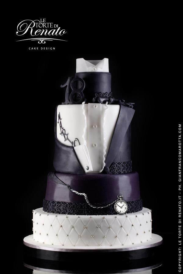 compleanno in smoking   cakes and sugarcraft   pinterest   bizcocho
