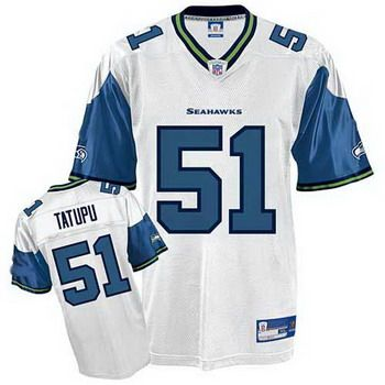 Seattle Seahawks 51 Lofa Tatupu White Jersey  957a2ed70