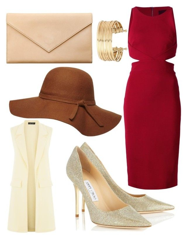 """red glamor"" by souchi26 on Polyvore featuring Cushnie Et Ochs, Jimmy Choo, Carré Royal, H&M and Dorothy Perkins"