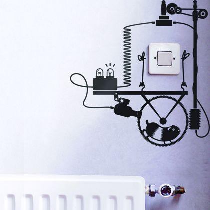 wall sticker - hamster power generator - www.hu2 in 2019