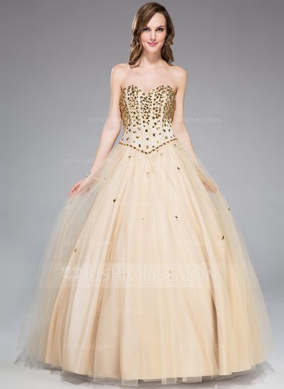 a49e92a40ee7 Ball-Gown Sweetheart Floor-Length Tulle Prom Dress With Beading (018047244)