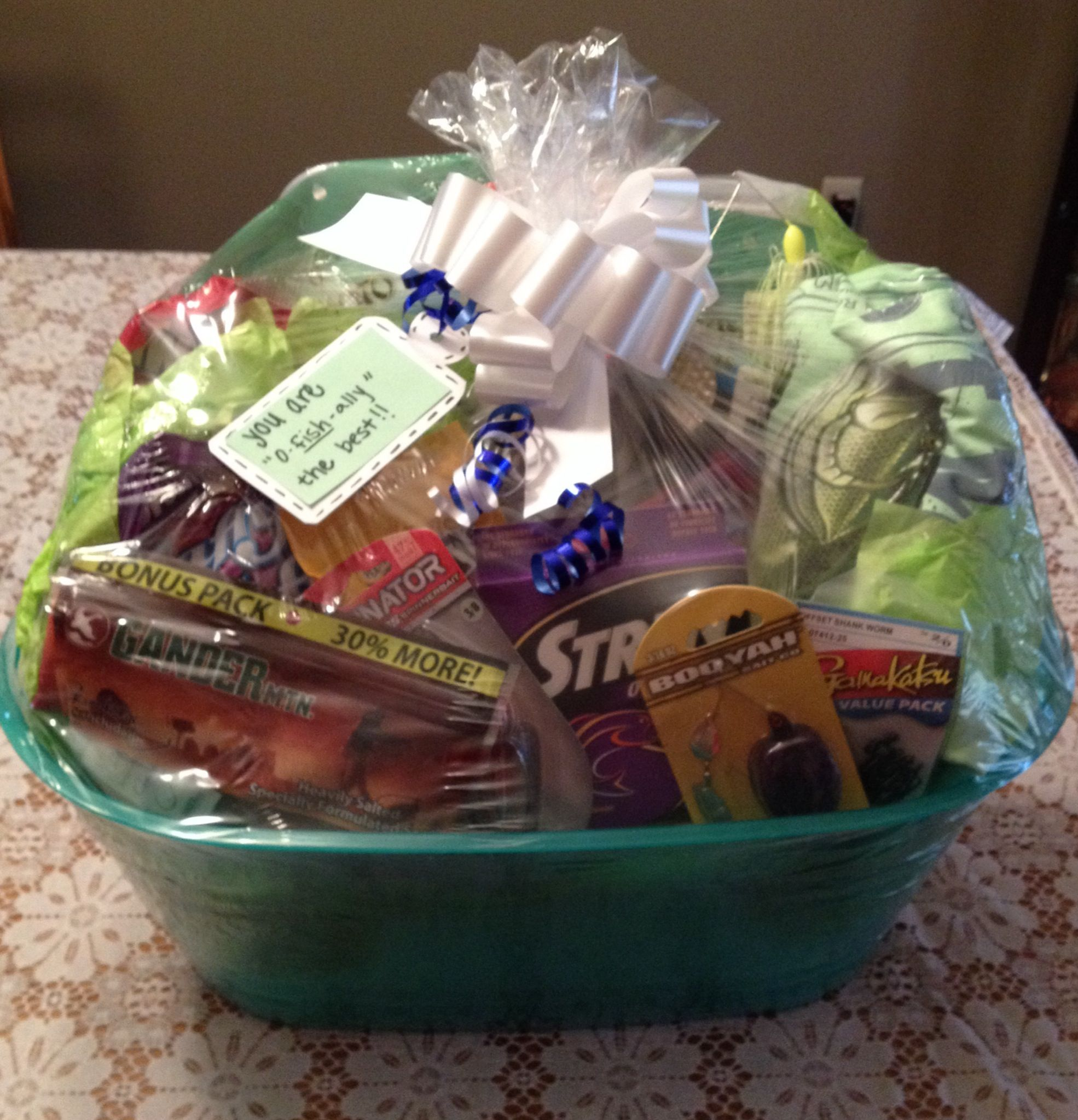 """You Are """"O-fish-ally"""" The Best. Fishing Gift Basket"""