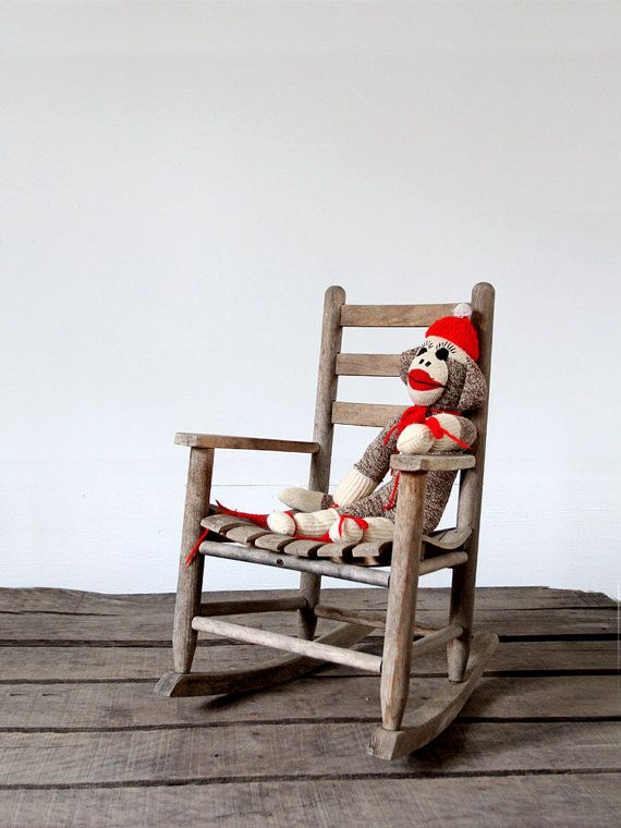 1940s Kids Rocking Chair / Vintage Childrens Chair By 86home, $128.00