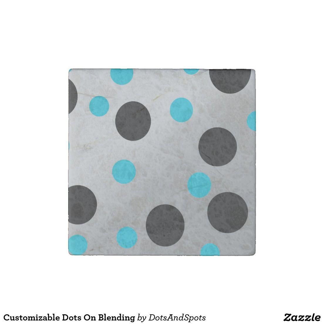 Customizable Dots On Blending Stone Magnet
