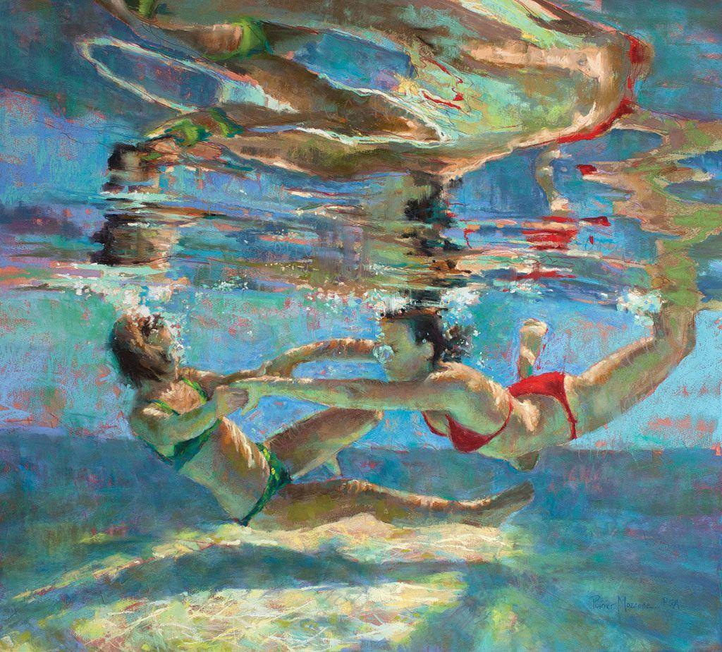 Underwater tribal belly dancer Marluna Blue, photo by