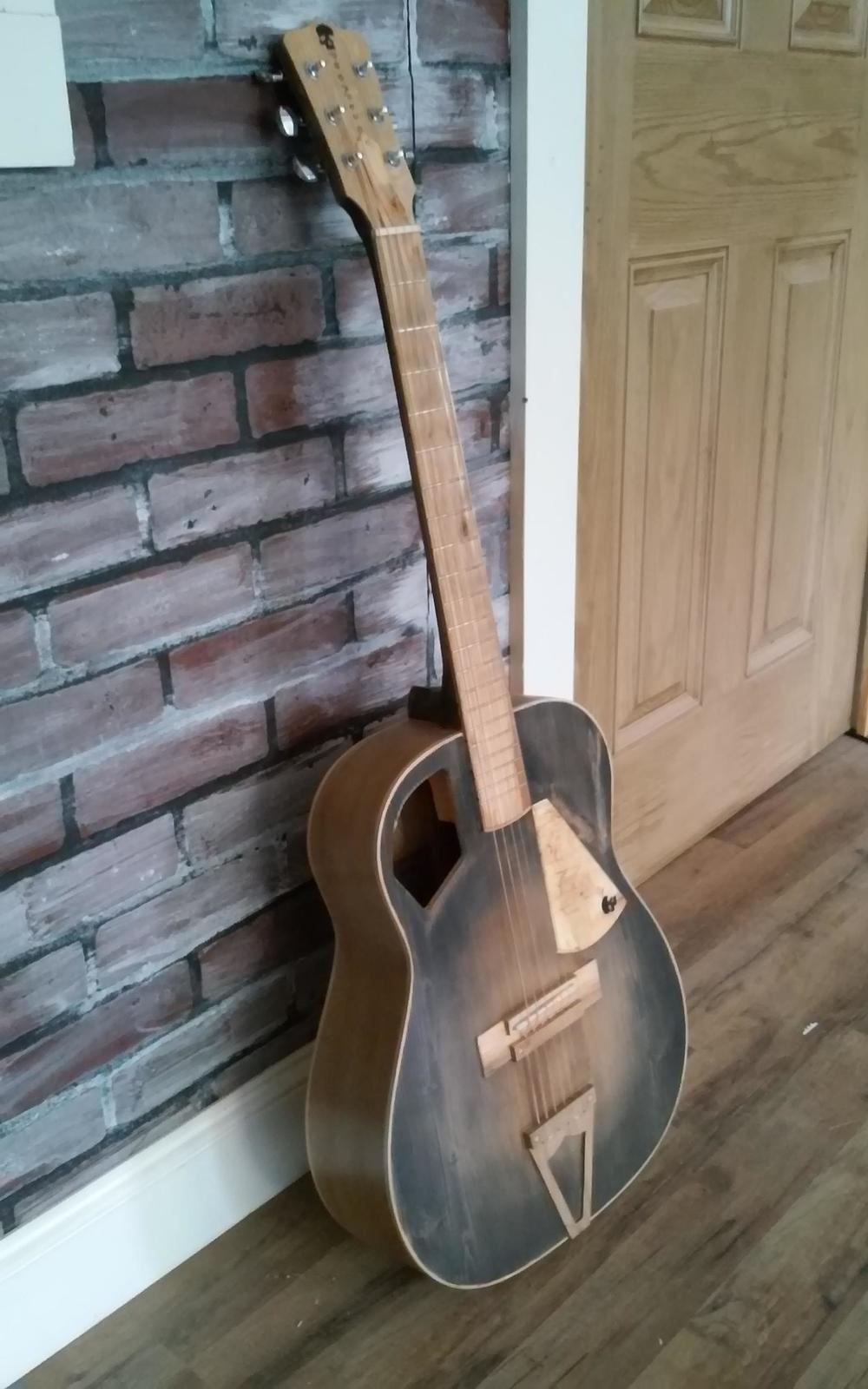 Auditorium Tsuga Spruce Top Aged Sunburst Vintage Guitars Guitar Guitar Accessories