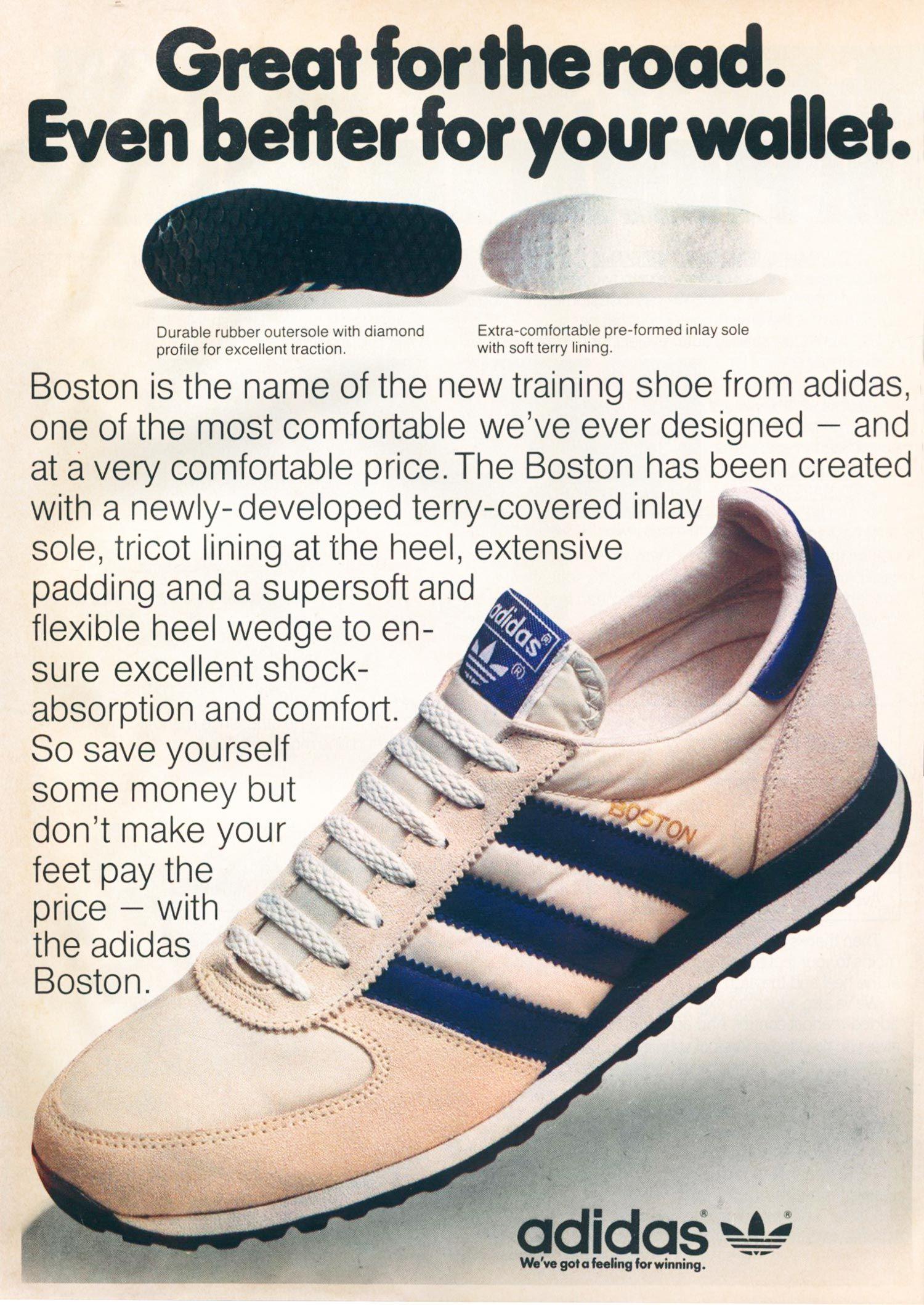 Adidas Boston 1981 vintage sneaker ad