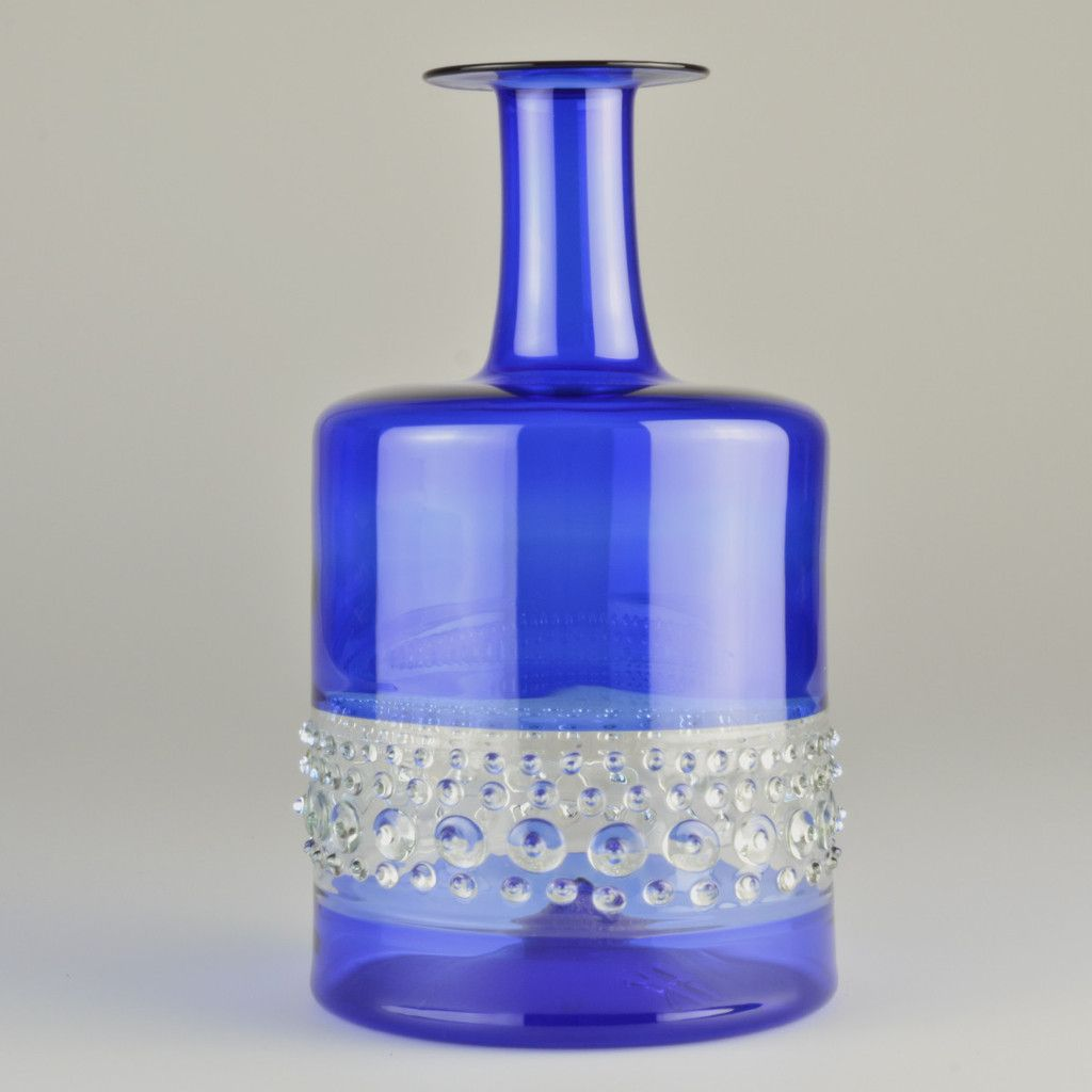 Lauschaer Glas 1970's Lauscha Glass Vase By Hubert Koch #1970s #blue #