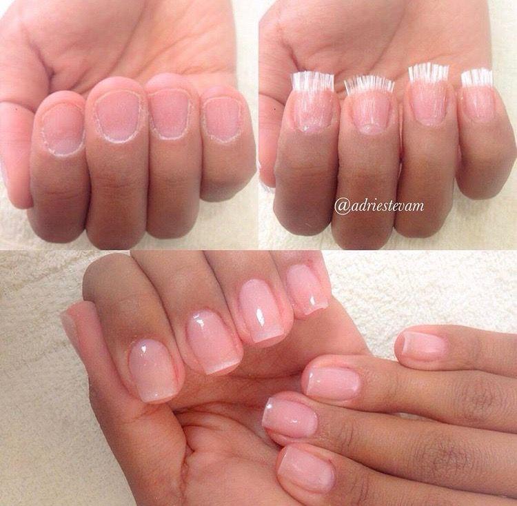 Fiber Glass Technique Adriestevam Fiberglass Nails Silk Nails Nails