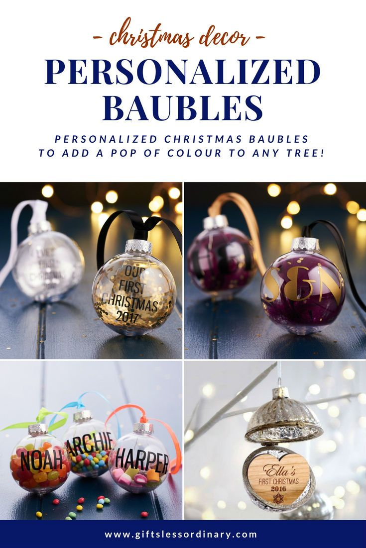 Personalised Christmas Baubles And Ornament Ideas Everything From Personalised Christmas Baubles Personalized Christmas Decor Christmas Stockings Personalized