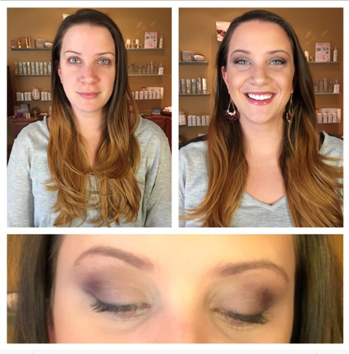 Make-up training day! Our Communications Director, Joanna @joannamcg, wearing ONLY THE BEST-- @janeiredale The SkinCare Makeup! <3 P.S. #nofilter #picstitch #activelight #lipandcheekstain #lashextender #longestlashmascara #smoothaffair #sobronze #dreamtint