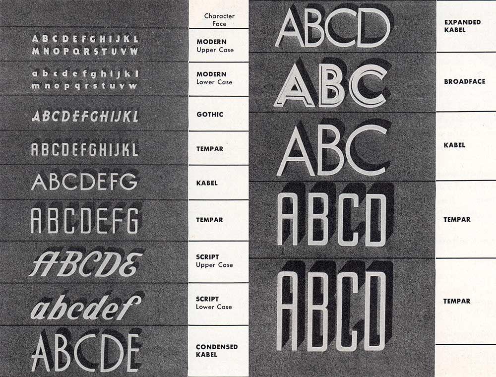 Mittens Brochure Letter Styles