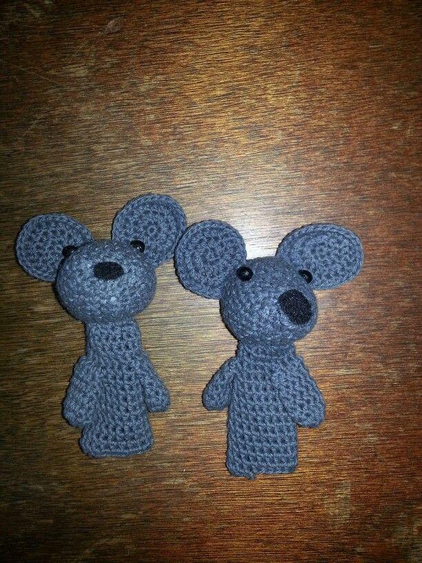 Titeres de dedo ratones crochet | Crochet I Like - Puppets ...