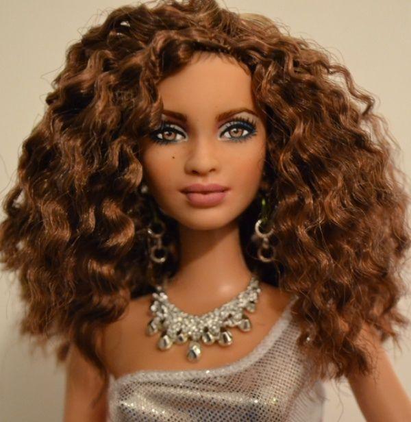 Salomé , a Hispanic- Biracial  Barbie repaint by DollAnatomy! by G X