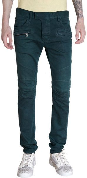05f3395e Balmain Military Biker Jeans in Green for Men (denim) - Lyst | My Style