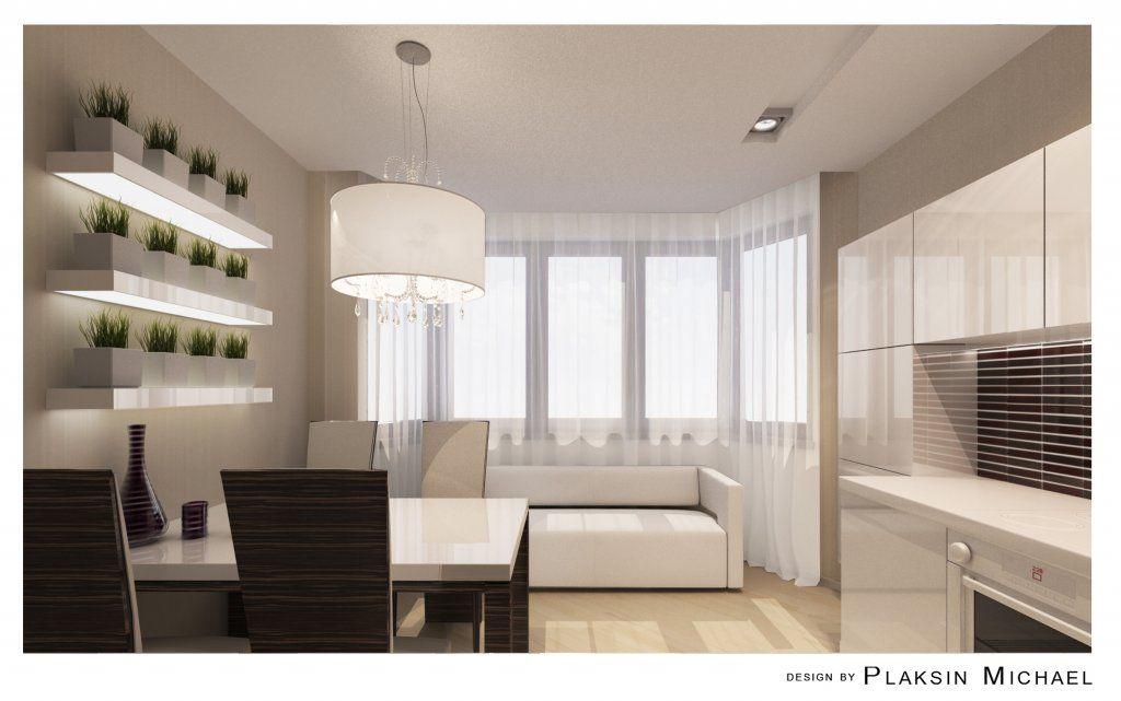 П44т кухня с эркером дизайн фото