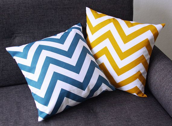 Cushion Cover Model Zig Jaune Moutarde Or Bleu Canard 15 75x15 75 In Or 19 7x11 8 In Cushion Cover Throw Pillows Cushions