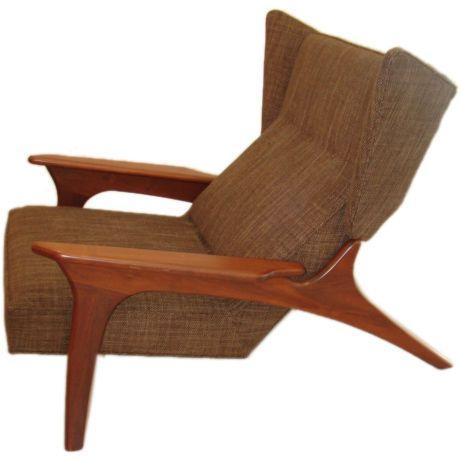 Adrian Pearsall Mid Century Modern Armchair   Craft Associates | 1stdibs.com