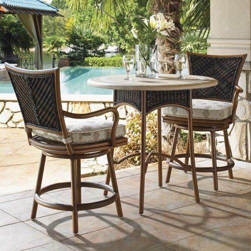Outdoor Furniture In Naples Fl: Island Estate Lanai 3 Piece Outdoor 38 Inch Weatherstone