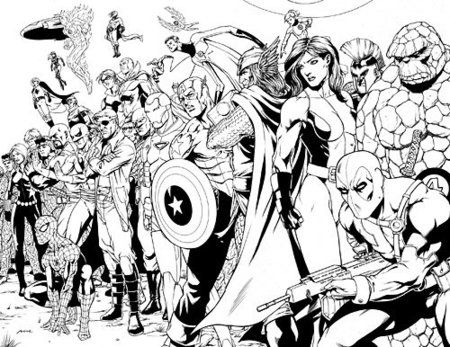 ultimate avengers coloring pages bing images