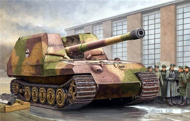 One prototype with a 170mm gun was almost completed in May of 1945-