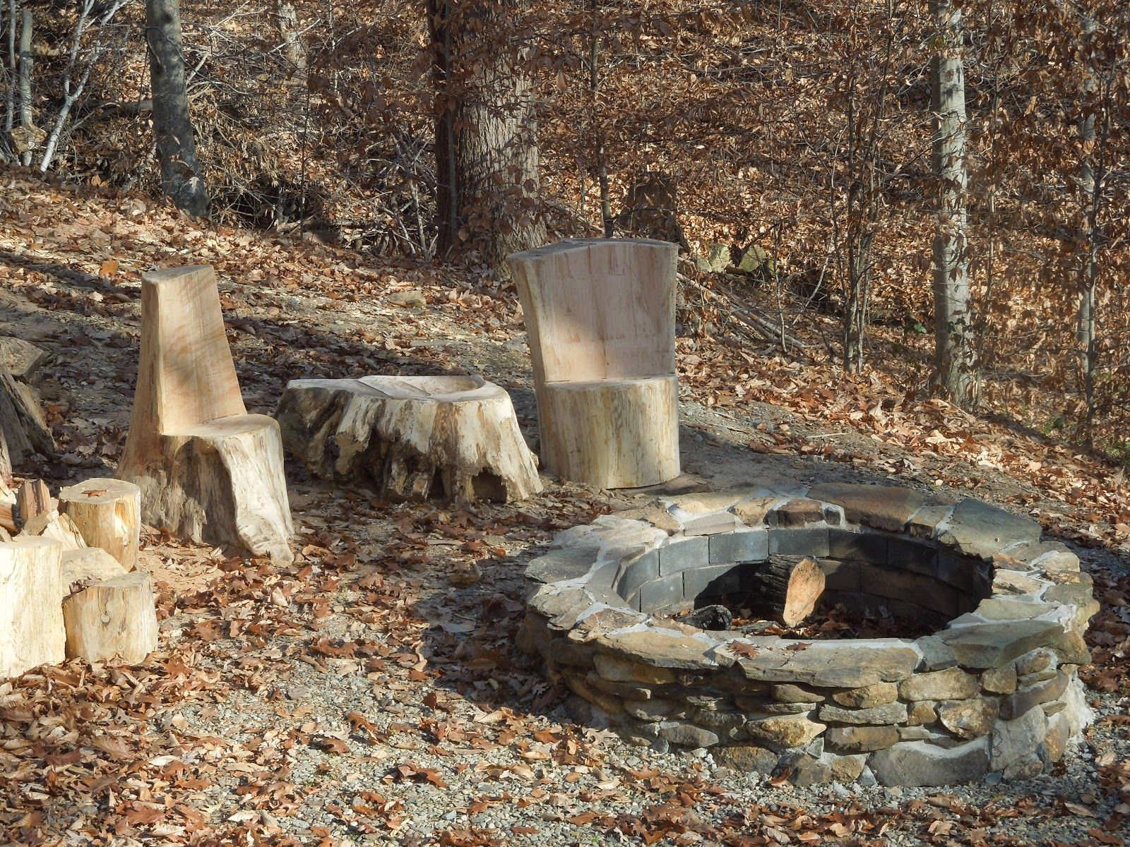 another cool rustic fire pit design fire pit ideas pinterest