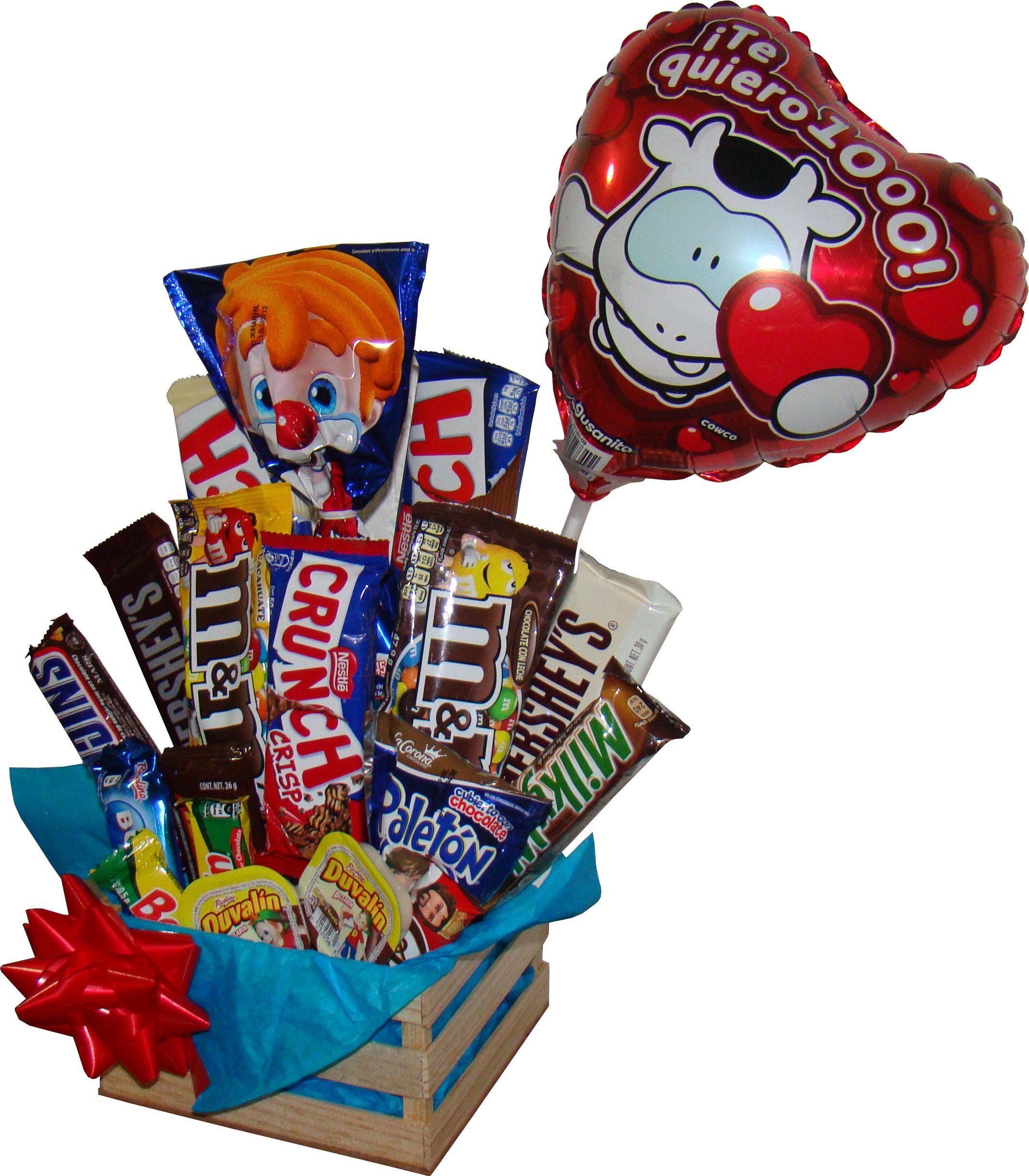 Regalo para hombres con varidad de chocolates en huacal - Decoracion de tazas ...