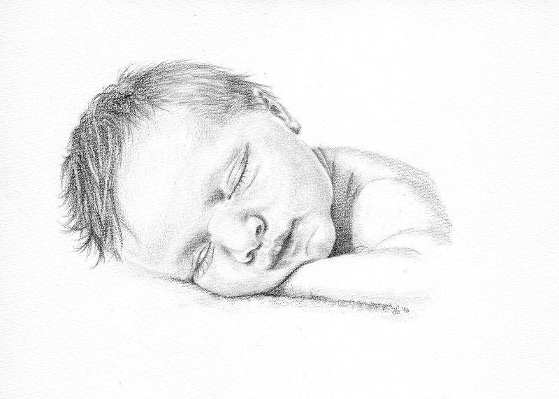 das schlafende baby bleistiftzeichnung bunte galerie wunderbare zeichnungen pinterest. Black Bedroom Furniture Sets. Home Design Ideas